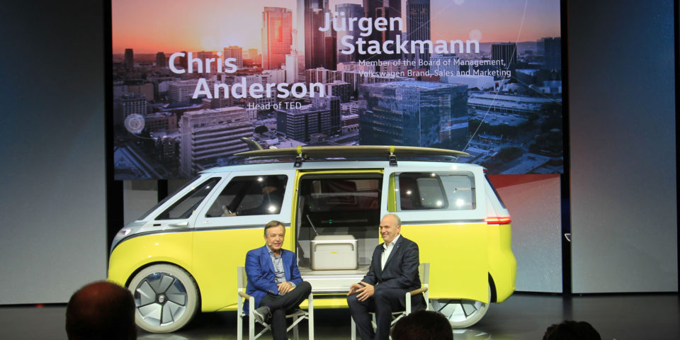 mid Los Angeles – TED-Chef Chris Andersen verschonte VW-Vorstand Jürgen Stackmann im Interview nicht.